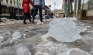 Опасность наледи и снега на крышах